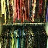 "Creative scarf storage - do you need to see the ""before"" picture?"