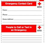 Red Cross Contact Card