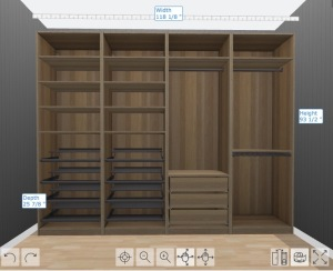 "Here's one kind of ""closet"" that can be made using the PAX system from IKEA."