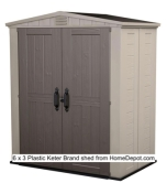 6 x 3 https:::www.homedepot.com:p:Keter-Factor-6-ft-x-3-ft-Outdoor-Storage-Shed-213040:204330100