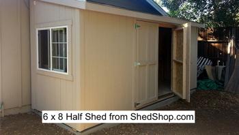 6 x 8 Half Shed at ShedShop.com