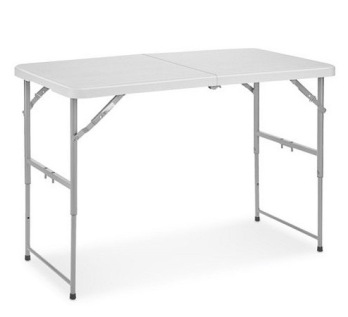 2 x 4' folding table - adjustable height
